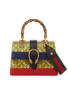 Gucci Dionysus Medium Tokyo-Print Top-Handle Satchel Bag, Multi