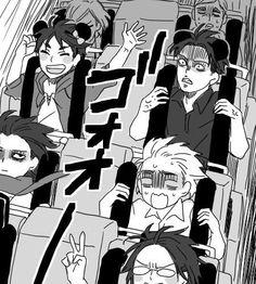 Shingeki no Kyojin (Attack on Titan) Eren, Levi, Mikasa, and Armin