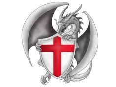 england flag tattoo   Dragon With English Flag Tattoo   Tattoo Lawas