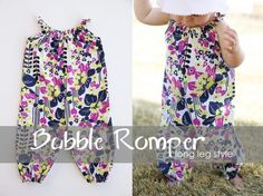 Oh how precious!  A long leg bubble romper tutorial - complete with instructions on drafting your own pattern - very clear, very clever and very cute