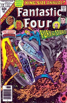 """Fantastic Four Annual """"The End of the Inhumans. and the Fantastic Four"""" (November, Cover by John Buscema, Joe Sinnott & Irv Watanabe. Marvel Comics Superheroes, Hq Marvel, Marvel Comic Books, Comic Books Art, Comic Art, Book Art, Dc Comics, Marvel Characters, Marvel Heroes"""
