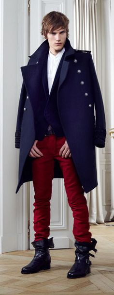 by Balmain (2)  -- great colors but I don't think I could pull off the coat as a cape nor the boots