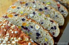 Some bread is just meant to be toasted ~ like this chunky fruit and nut Muesli Toasting Bread ~ it makes breakfast a special occasion!