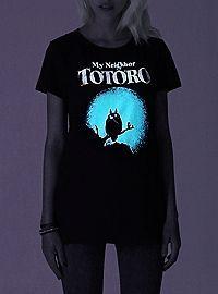 HOTTOPIC.COM - Studio Ghibli Her Universe My Neighbor Totoro Moon Silhouette Glow-In-The-Dark Girls T-Shirt