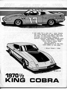 1970 torino king cobra project it started in 1969 as a replacement for the talladega - Ford Torino King Cobra