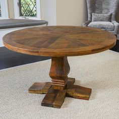 California Vintage Round Mango Wood Dining Table (ONLY) by Christopher Knight Home - Free Shipping Today - Overstock.com - 17812381 - Mobile