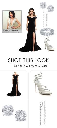 """""""I'm taking back the crown, I'm all dressed up and naked"""" by katrenakearns ❤ liked on Polyvore featuring Polaroid, Rachel Gilbert, René Caovilla, Effy Jewelry, Blue Nile and KingAdrianSeletionBonus"""