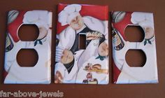 Light Switch Plate Switchplate Cover RED FAT CHEF