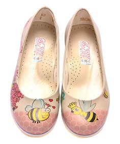 Look at this #zulilyfind! Tan Bumble Bee Leather Ballet Flat #zulilyfinds