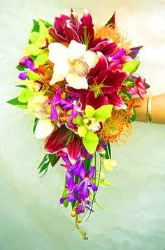 Hawaiian Blue Purple Bouquet