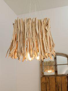 Chantelle Lighting - Square Wooden Driftwood Pendant