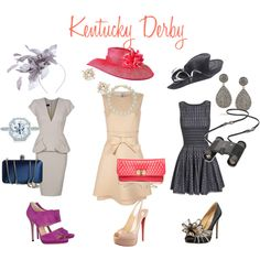 get out your fancy hats ladies. Great idea for a charity event, bridal shower, or another upscale type of party. hats kentucky derby Designer Clothes, Shoes & Bags for Women Kentucky Derby Outfit, Derby Attire, Kentucky Derby Fashion, Derby Outfits, Melbourne Cup Fashion, Shower Outfits, Derby Dress, Derby Party, Fancy Hats