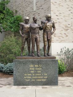 Lou Holtz, head coach with Notre Dame from 1986 to including National Championship in Notre Dame Football Stadium, Nd Football, College Football, 50th Birthday, Birthday Cakes, Notre Dame Athletics, Notre Dame Campus, Lou Holtz, Go Irish