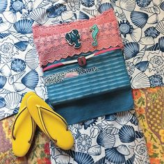 ⭐️ ・貝殻模様 綿絽浴衣 ・紬名古屋帯 ・レース帯揚&花帯留/客間original ・Crayfish&Seahorse/C'eedle #kimonoinmycloset ◄► #yukata #浴衣 #cadbunnyokimono #kimonocoordinate #antiquekimono #antique #japan #japanesetradition #vintage #kimono #着物 #アンティーク着物 #ヴィンテージ着物 #帯 #客間original #ceedlecadbunny #ceedle