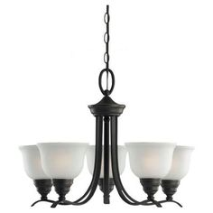 Sea Gull Lighting Wheaton 5-Light Heirloom Bronze Single Tier Chandelier-31626-782 at The Home Depot