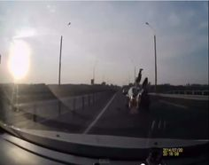 Motorcycle Crash, Front Flip From Near Death To A Safe Landing! Video Inside