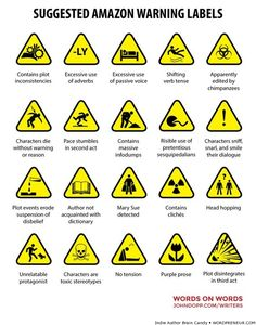 Suggested Amazon Warning Labels (more writer laughs @ Wordpreneur.com)