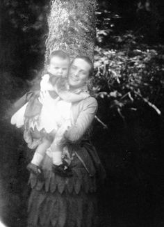 Princess Zinaida Youssoupoff holding baby Nicholas. Photo was taken in 1884 after she nearly died from typhus.  source: Arkhangelskoye Museum