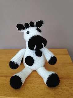 Handmade crochet cow toy plush crochet cow crochet toy by Bitzas