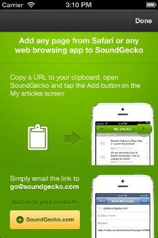 sound gecko turns websites into audio files