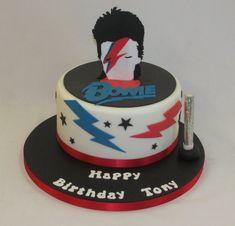14th Birthday, Birthday Bash, Birthday Parties, Happy Birthday, Birthday Cakes, Birthday Ideas, David Bowie Birthday, Rock And Roll Birthday, Guitar Cake