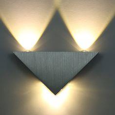 Kitop 3 Wát Nhôm Tam dẫn đèn tường AC85-265V high power led chiếu sáng Nhà Hiện Đại trong nhà và ngoài trời ánh sáng trang trí