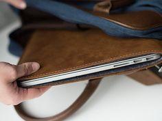 """Handmade Leather MacBook Air Sleeves by MintCasesin brown for $69 MacBook Air 11""""???"""