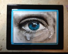 """Blue"" - by  Glassiquegirl. Delphi Artist Gallery - I actually ""paint"" these by sifting dry glass powder and maneuvering it around with various tools. Then I tack fuse them."