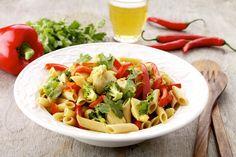 Nem aftensmad: Kylling med grov pasta og grønt