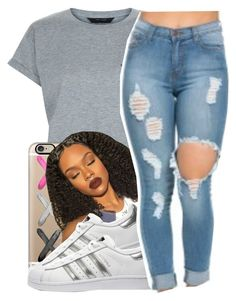 """Pornography"" by queen-vanessa ❤ liked on Polyvore featuring New Look, Casetify and adidas Originals"