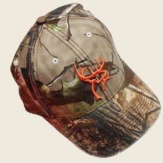 f848fdf85f6 BUCK HAT - CAMO ORANGE DEERHEAD For the hubby  ) Country Hats