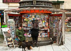 Magazine kiosk, Madrid, Spain.