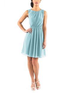 DescriptionJenny YooSkylarCocktaillength bridesmaid dressBateau neckineOpen backNatural waistlineLuxe chiffon