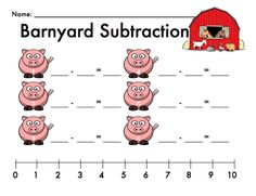 Barnyard Subtraction Freebie