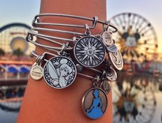 Tinkerbell Alex and Ani Charm-The Disney Side of Alex and Ani 'Charmed Arms' at Disney Parks