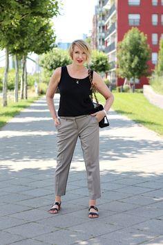 Chanel Vintage, Tasche, Tanktop, Dorothee Schumacher Hose, Ü40 Mode, Ü40 Blog,