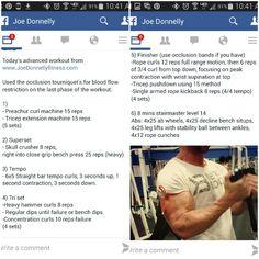 Advanced workout