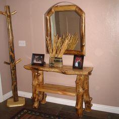 log furniture - entryway