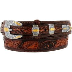 Manufacturer: Leegin Leather (Brighton) Style#: C42195 Description: Silver and Gold-Hue Accents make bright focal points against the Embossed Leather band on th