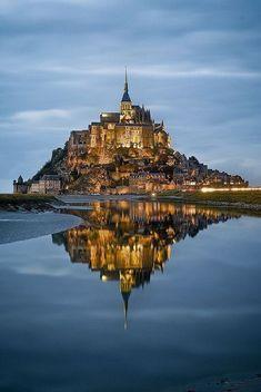 Exploring Mont Saint Michel in France.