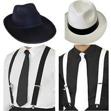Adult gangster deluxe trilby hat braces tie gatsby bugsy malone al capone Gatsby Themed Party, Great Gatsby Party, The Great Gatsby, 1920s Party, Gatsby Man, 1920 Gatsby, 1920s Mens Fashion Gatsby, 1920s Fashion Male, 1920s Flapper