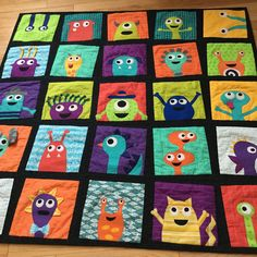 The wonderful thing about a quilt of monsters is that you just can't do it wrong. I decided to make a monster quilt for my little boy, befor...
