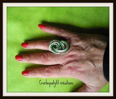 Crochepatyfil créations: Quelques bagues en fil d'alu