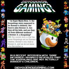 Did You Know Gaming? trivia: Super Mario Bros. 3 and Super Mario World.