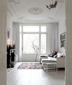 White interior // #livingroom