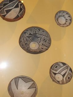 Mimbres bowls in black and white geometric patterns by genibee, via Flickr