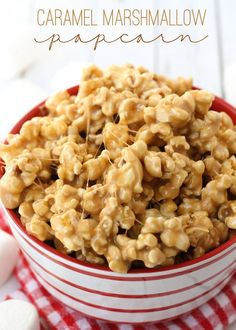 Super Gooey and Delicious Caramel Marshmallow Popcorn recipe on { lilluna.com }