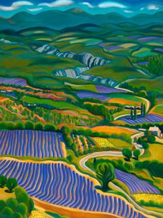 """""""Luberon Lavender Valley"""" Tracy Turner New Works Gallery"""
