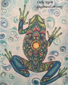 My Mandala Frog from #Sommarnatt by @hannakarlzon coloured using Supracolors and…