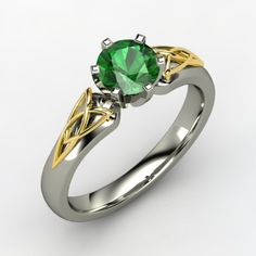 The Fiona Ring #customizable #jewelry #emerald #gold #palladium #ring
